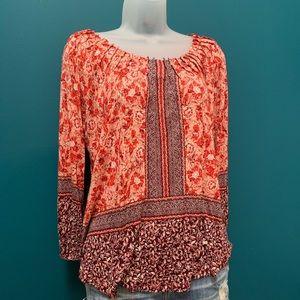 Lucky 🍀 Brand Peasant Boho/Hippie Shirt S